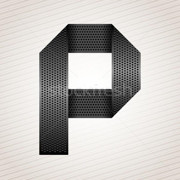 Letter metal ribbon - P Stock photo © Ecelop