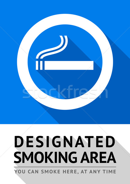 Label smoking area sticker Stock photo © Ecelop
