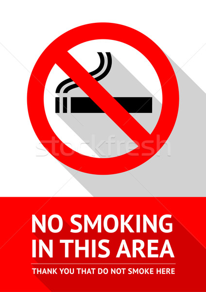 No smoking sticker, flat design Stock photo © Ecelop