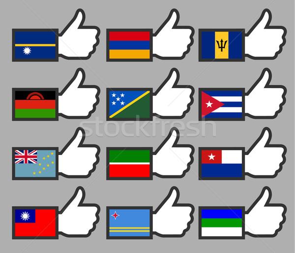 Vlaggen teken reizen vlag land Stockfoto © Ecelop