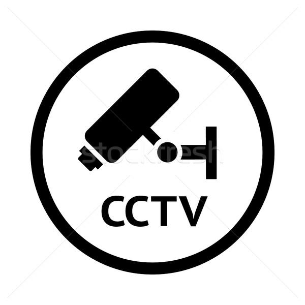 Vídeo observação símbolo cctv preto emblema Foto stock © Ecelop