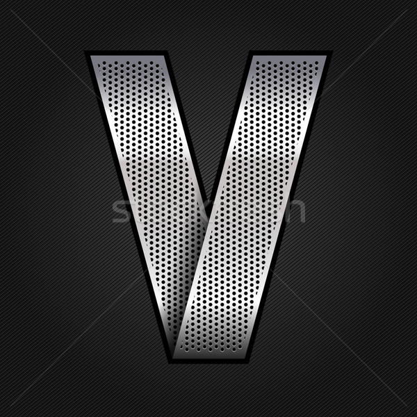 Lettre métal chrome ruban métallique chrome Photo stock © Ecelop