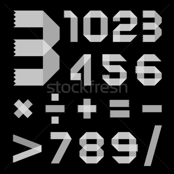Font from scotch tape - Arabic numerals Stock photo © Ecelop