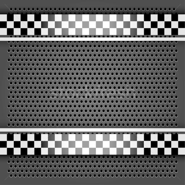 Metallic perforated sheet gray Stock photo © Ecelop