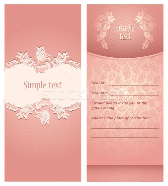 Invitación de la boda flores ornamento perfecto invitación anuncio Foto stock © Ecelop