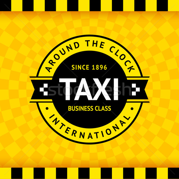 Taxi symbool business weg stad Stockfoto © Ecelop