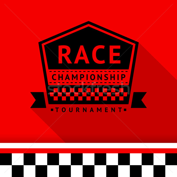 Racing stamp-08 Stock photo © Ecelop