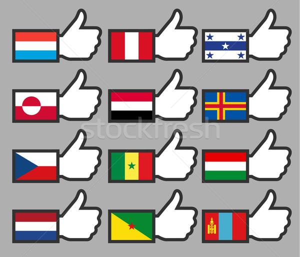 Vlaggen teken vlag land politiek Stockfoto © Ecelop