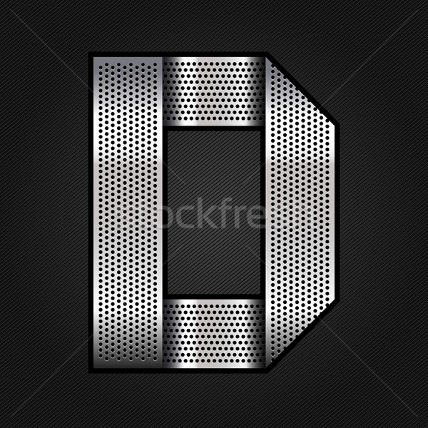 Letter metal chrome ribbon - D Stock photo © Ecelop