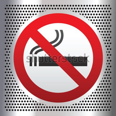 No smoking symbol on a chromium background Stock photo © Ecelop