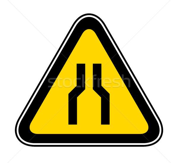 Triangular Warning Hazard Symbol Stock photo © Ecelop