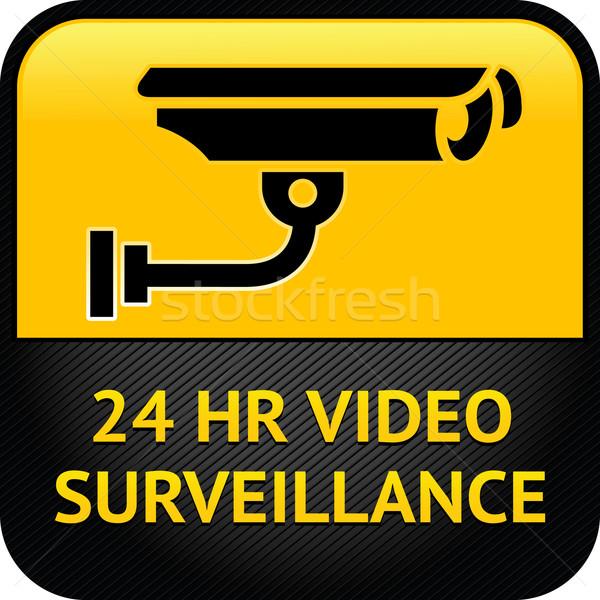 Video teken cctv sticker waarschuwing Stockfoto © Ecelop