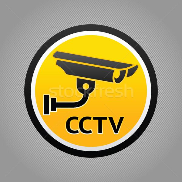 サーベイランス カメラ 警告 絵文字 ステッカー セキュリティ ストックフォト © Ecelop