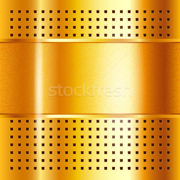 Gold template, metallic background, vector illustration 10eps Stock photo © Ecelop