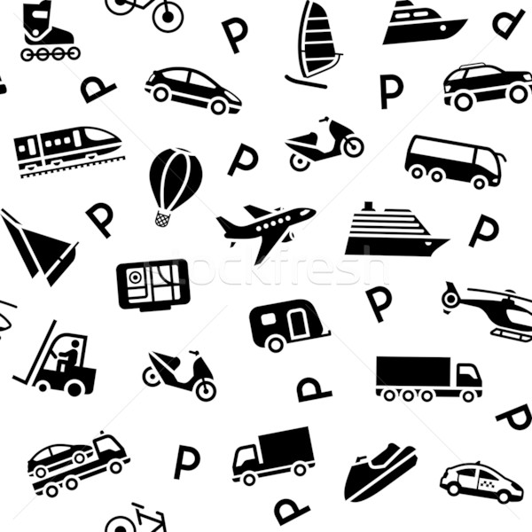 Seamless background transport icons Stock photo © Ecelop