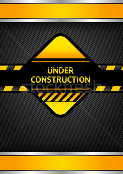 Under construction, black corduroy background Stock photo © Ecelop