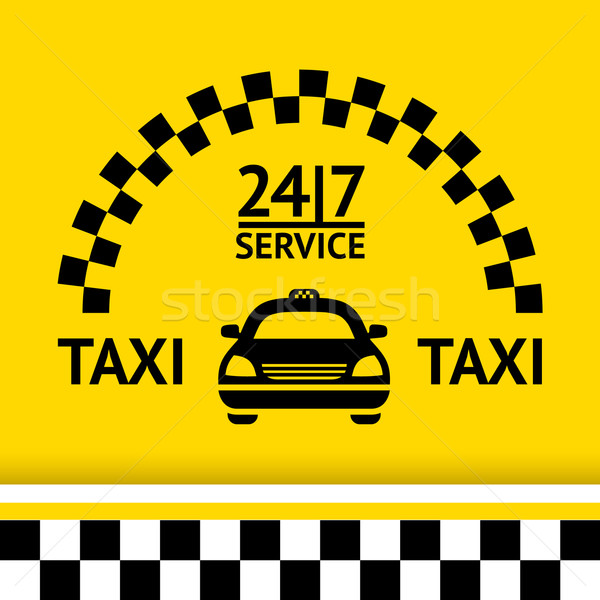 Taxi symbol, and car on the  background Stock photo © Ecelop