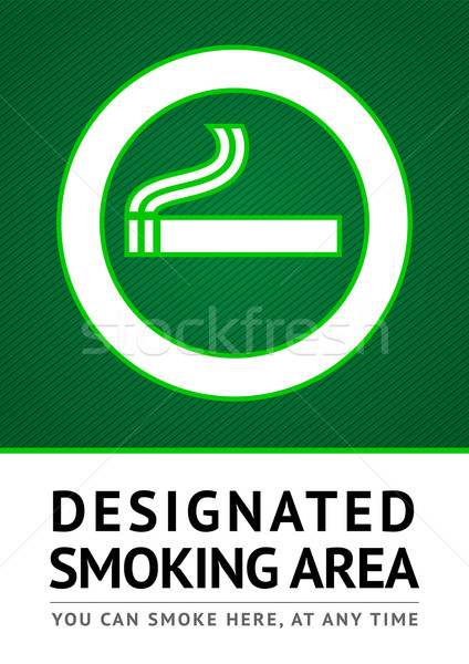 Stock photo: Label smoking place sticker