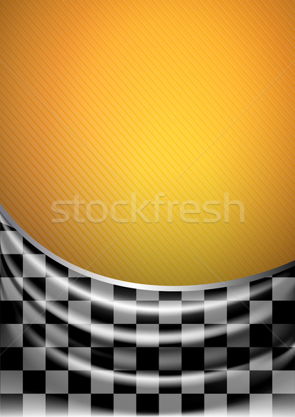 Silk tissue in checkered on a yellow background Stock photo © Ecelop