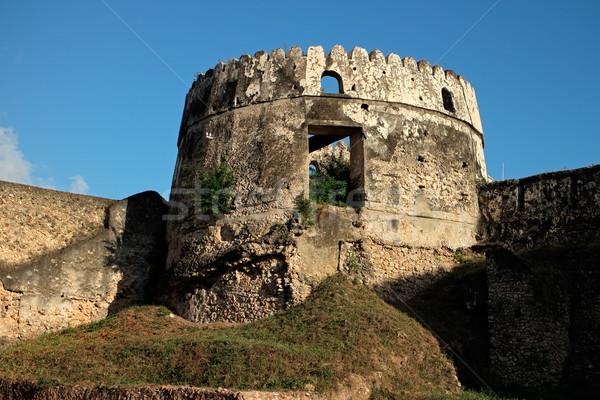 старые форт башни здании исторический каменные Сток-фото © EcoPic