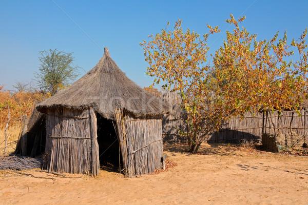 Foto stock: Rural · África · cabaña · tradicional · región · Namibia