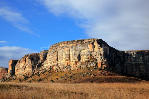 песчаник рок Золотые Ворота парка ЮАР небе Сток-фото © EcoPic