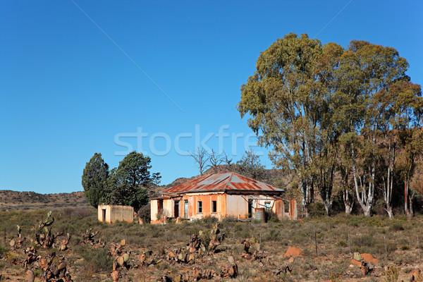 Verlaten huis landelijk boerderij South Africa hemel Stockfoto © EcoPic