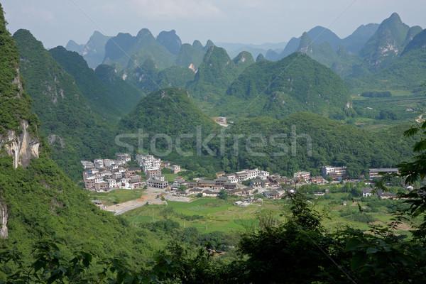 Kalksteen heuvels China landelijk regio natuur Stockfoto © EcoPic
