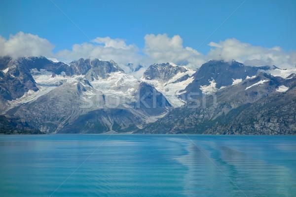 Gleccser park festői tájkép Alaszka víz Stock fotó © EcoPic