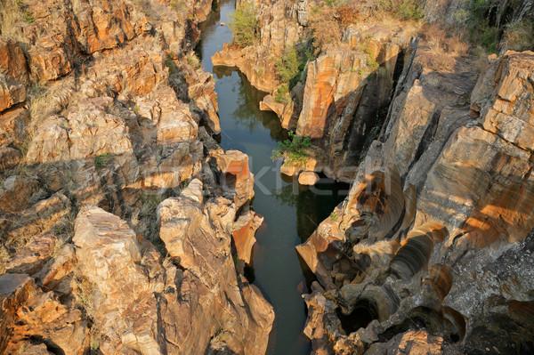 Rio desfiladeiro África do Sul água natureza Foto stock © EcoPic
