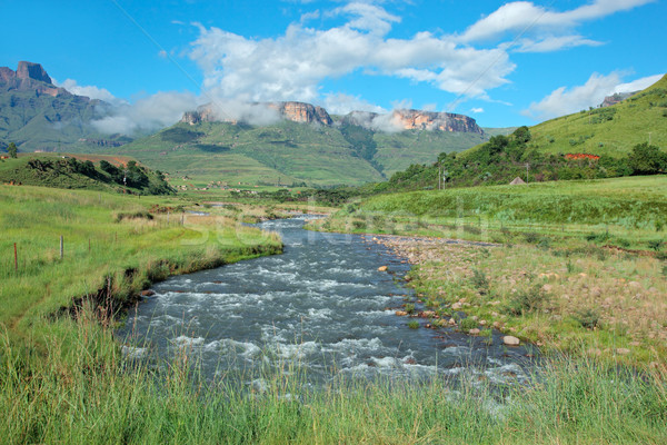Tugela river and  mountains Stock photo © EcoPic