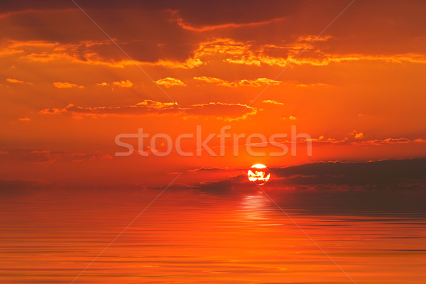 Sunset over water Stock photo © EcoPic