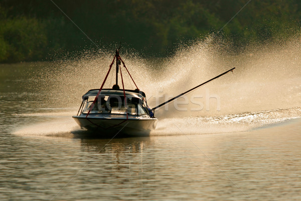 Backlit boat Stock photo © EcoPic