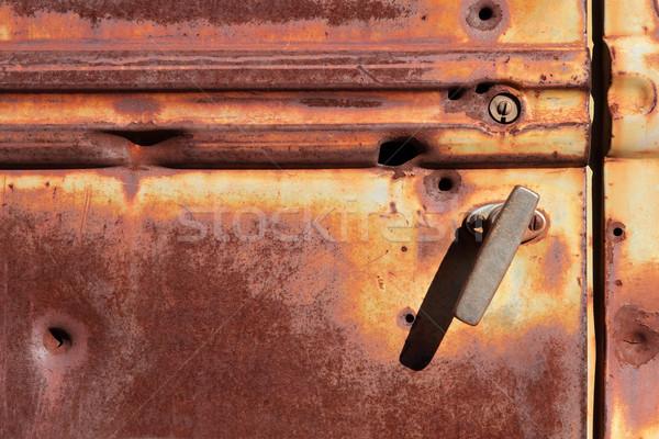 さびた ドア 古い 金属 トラック 鋼 ストックフォト © EcoPic