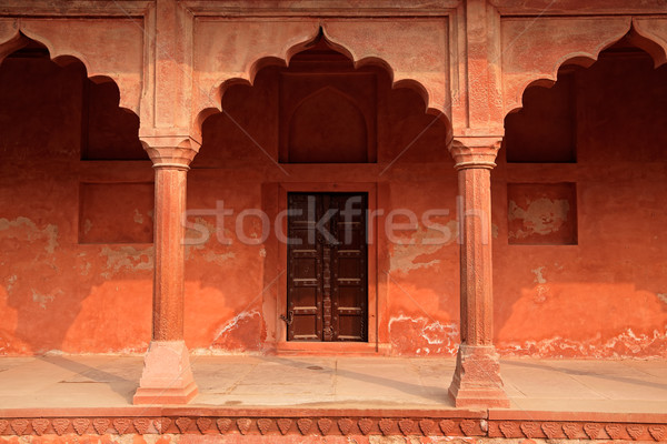 Architecture at Taj Mahal entrance Stock photo © EcoPic