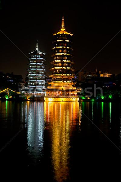 Pagodas, Guilin, China Stock photo © EcoPic