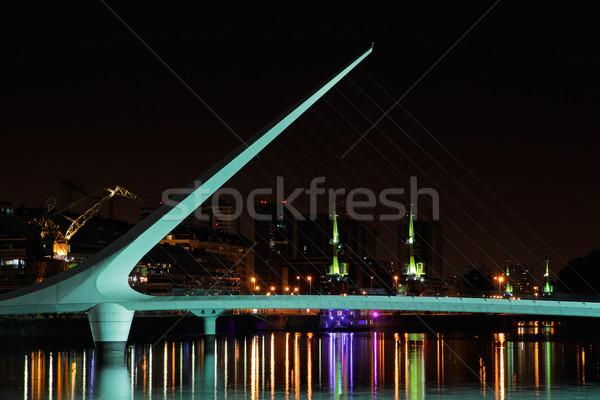 Híd nő Buenos Aires LA éjszaka Argentína Stock fotó © EcoPic