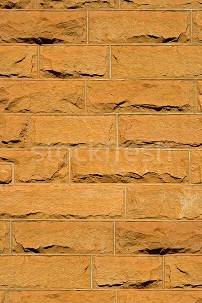 Homokkő tégla citromsárga textúra épület fal Stock fotó © EcoPic