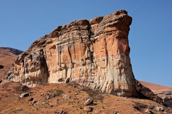 Arenito rocha ver famoso secar inverno Foto stock © EcoPic