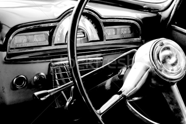 Oldtimer interieur oude metaal vintage Stockfoto © EcoPic