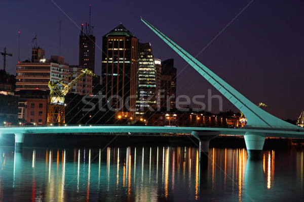 Bridge of the woman, Buenos Aires Stock photo © EcoPic