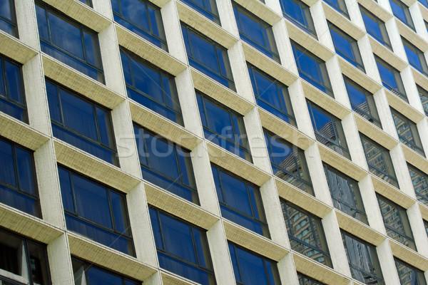 Streszczenie architektoniczny wzór wysoki nowoczesne miasta Zdjęcia stock © EcoPic