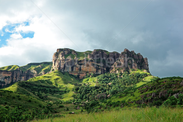 Piaskowiec rock góry Południowej Afryki krajobraz ziemi Zdjęcia stock © EcoPic