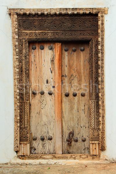 Antique wooden door Stock photo © EcoPic