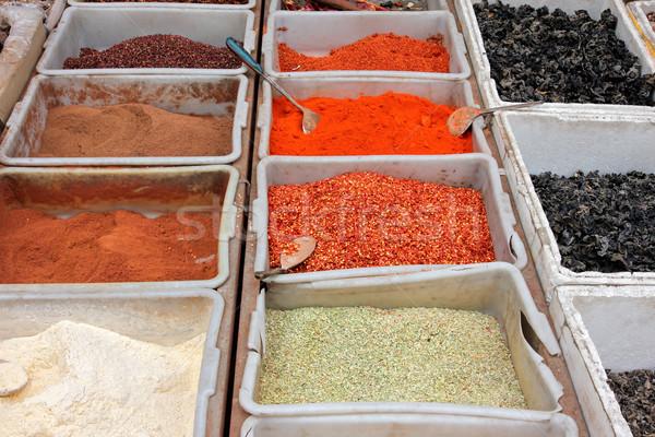 Colorido especias informal mercado China alimentos Foto stock © EcoPic