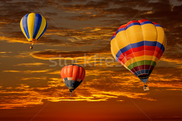 Hot air balloons Stock photo © EcoPic