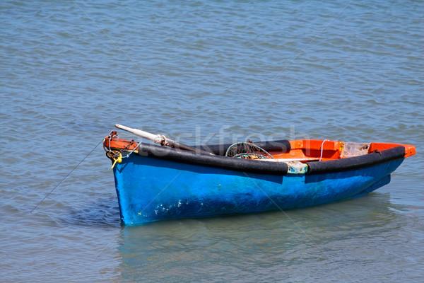 лодка воды отражение синий Сток-фото © EcoPic