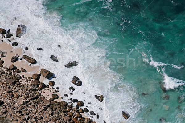 Rocky beach and waves Stock photo © EcoPic