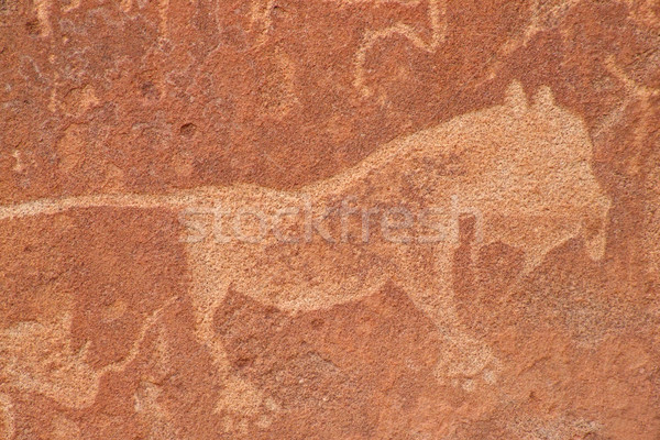 Rock engravings Stock photo © EcoPic