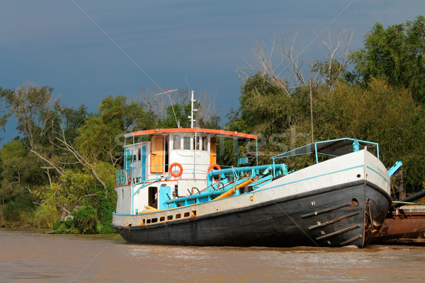 Boat on river Stock photo © EcoPic